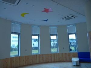 円形のお部屋、幼稚園って感じです。
